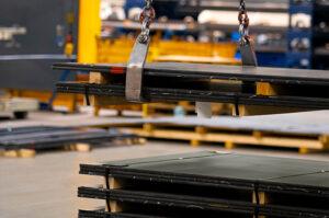 Materialvorrat für die Metallverarbeitung